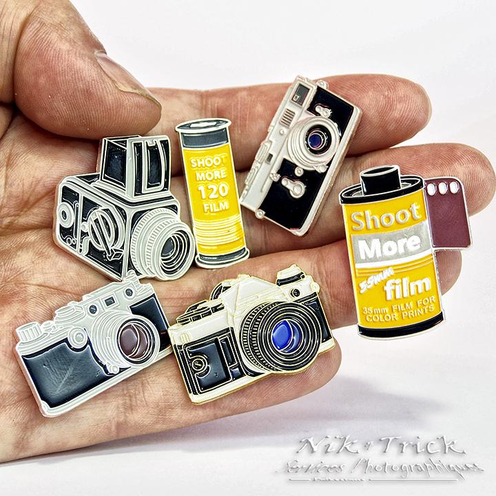 Shoot More 35mm Film! ~ Enamel Pin ~ 35mm Version