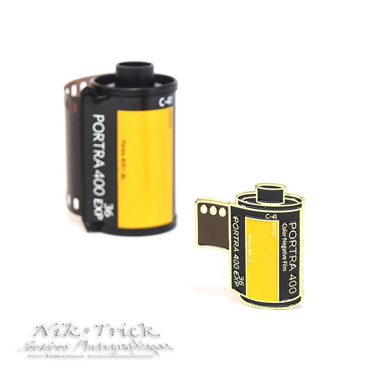 Kodak Portra 400 ~ The Enamel Camera Pin